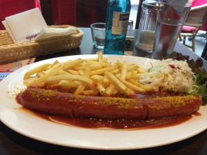 Currywurst is a Berlin specialty that's everywhere in Germany but taste a lot better at the origin of it of course!