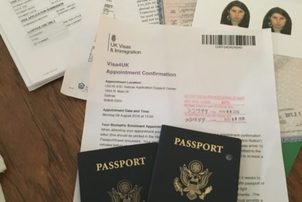 All the documents you need to send in to the visa decision making centre in New York