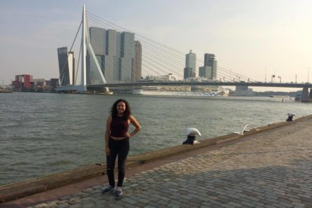 This is me in front of the Erasmusbrug!