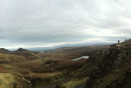 panorama view of the Fairy Glen on the Isle of Skye